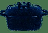 Казан квадратный с крышкой UNIQUE UN-5208 - 6,1л, 28см