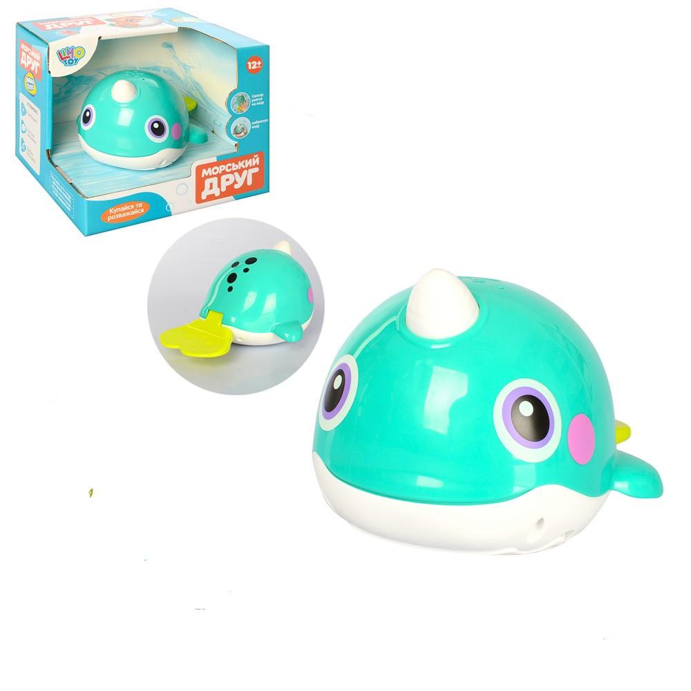 Гра для купання, кит, 16см, світло, рухливі деталі, 8101