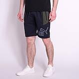Чоловічі трикотажні шорти PUMA, темно-синього кольору, фото 2
