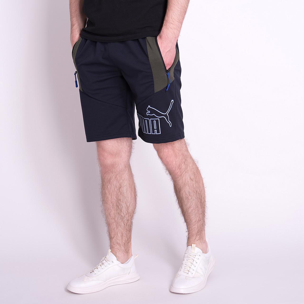 Чоловічі трикотажні шорти PUMA, темно-синього кольору