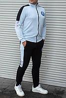 Мужской спортивный костюм Nasa без капюшона , голубой с чёрным