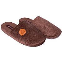 Мужские домашние тапочки, комнатные Runpole 0390-001 коричневые