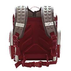 Школьный ранец каркасный BAIYUN 35х31x17 с ортопедической спинкой краный цвет  ксА4НСкр, фото 3