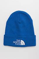 Зимняя шапка THE NORTH FACE голубая