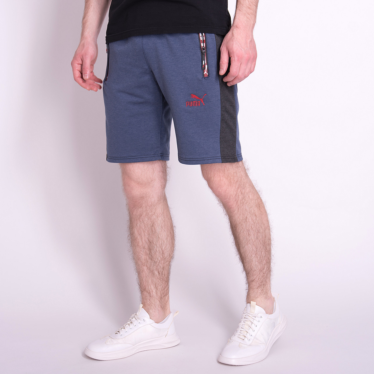 Чоловічі трикотажні шорти PUMA, кольору джинс
