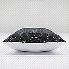 Подушка ЧЕРНАЯ с пайетками под сублимацию ХАМЕЛЕОН 35х35см, фото 2