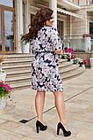 Платье прямого кроя в цветочный принт, ткань супер-софт. Р-р.50-52,54-56,58-60 Код 6501Е, фото 2