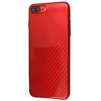 Чехол-накладка DK-Case Xdoria carbon глянец для Apple iPhone 7   8 Plus Красный 06366-757, КОД: 1694776