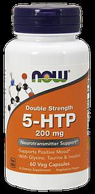 NOW Foods 5-HTP 200 mg з гліцином, таурином і инозитолом (60 Veg Capsules)