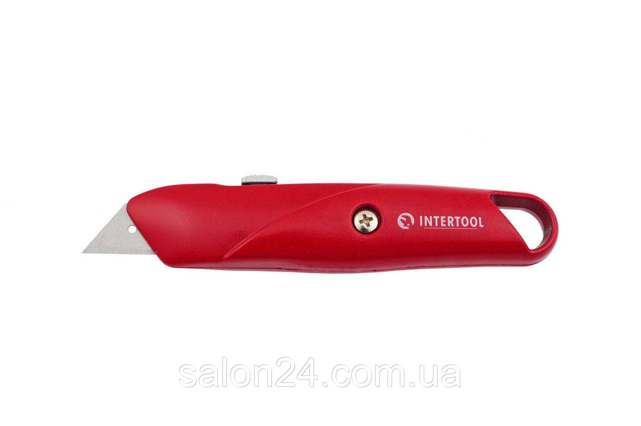 Нож Intertool - трапециевидный, металлический