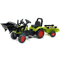 Трактор детский педальный Falk 2040AM Claas Arion с прицепом
