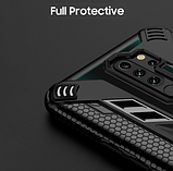 KEYSION защитный чехол Xiaomi Redmi Note 9S / Redmi Note 9 Pro с кольцом и прозрачной вставкой Цвет Чёрный, фото 5