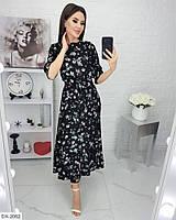Женское коктейльное платье в цветочный принт