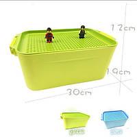 Контейнер(бокс) для хранения Фигурок и деталей игрушек Зелёный