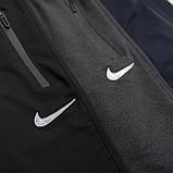 Чоловічі трикотажні шорти NIKE, чорного кольору. Батал, фото 6