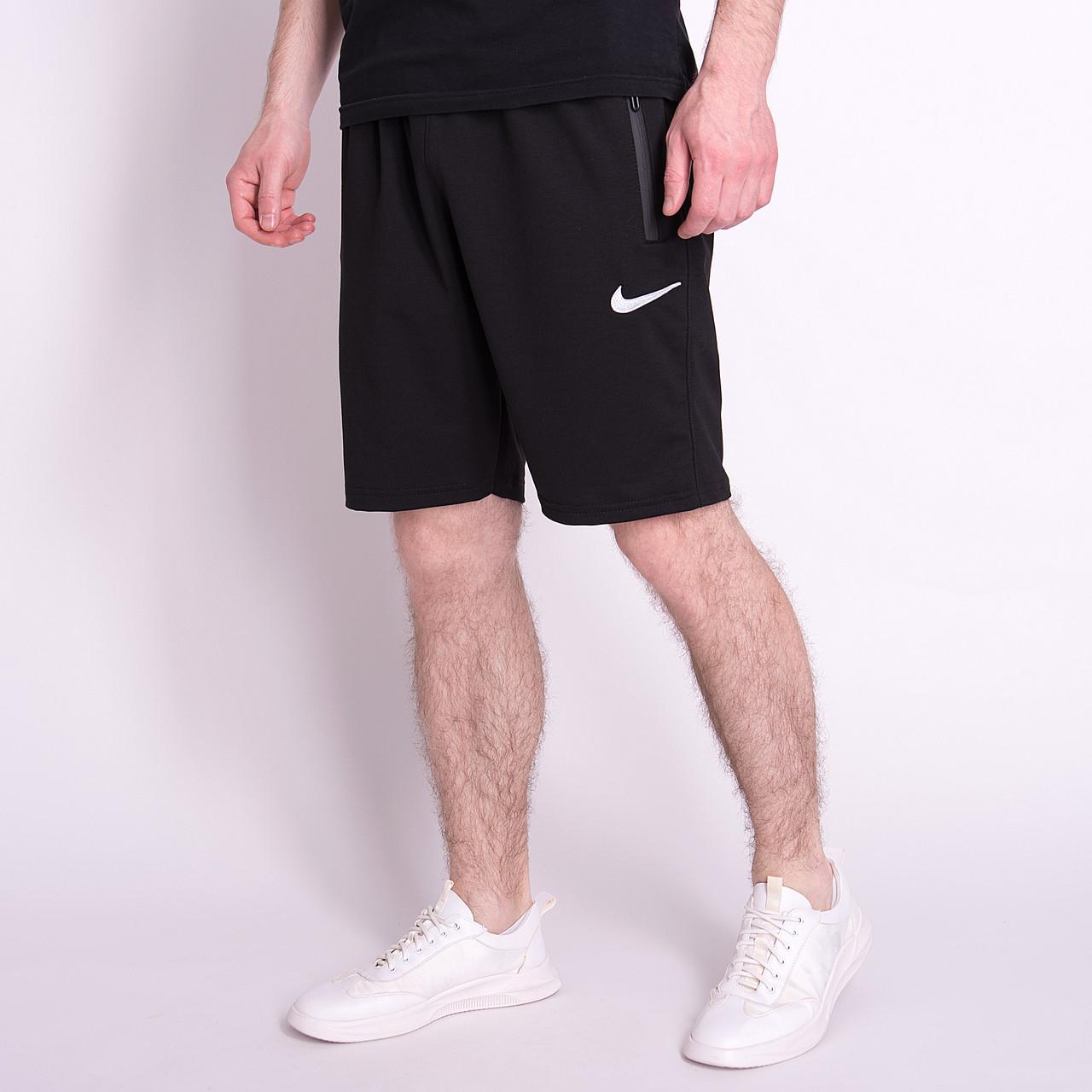 Чоловічі трикотажні шорти NIKE, чорного кольору. Батал