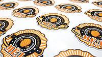 Стикер для брендирования медовой продукции 6х6 см без ламинации 0.60 грн.шт 940 шт. в комплекте