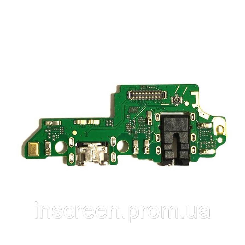 Плата зарядки Huawei Honor 7X Dual Sim (BND-L21) с разьемом зарядки, с микрофоном, с разьемом наушников, фото 2
