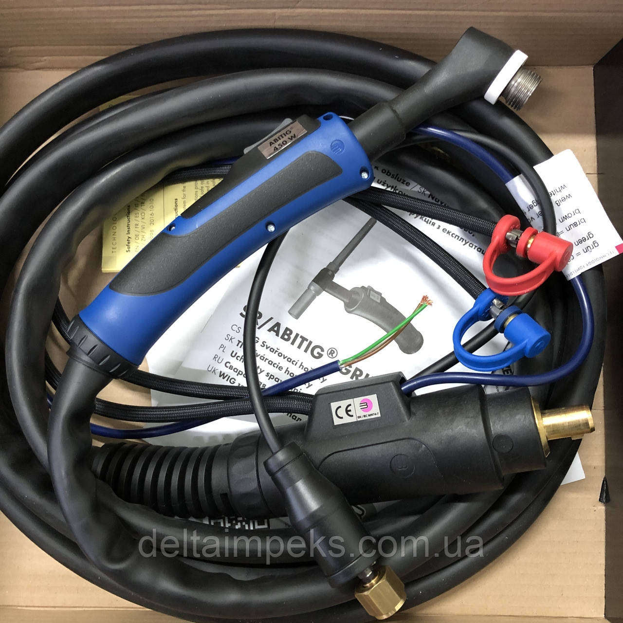 Горелка аргоновая ABITIG 450 W  GRIP 12,00 м, охлаждение жидкостью