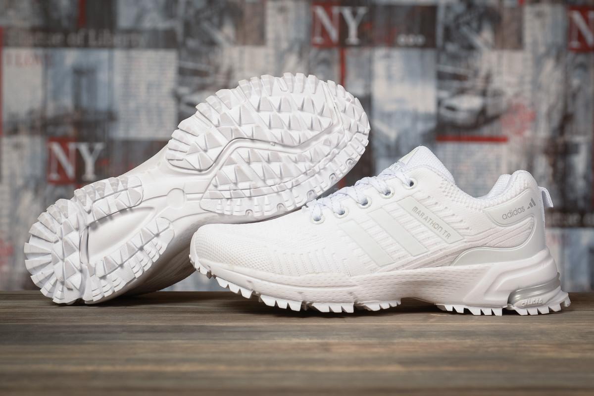 Купить Кроссовки женские Adidas Marathon TN белые, Адидас Марафон, дышащий материал, прошиты. Код DO-17006 40