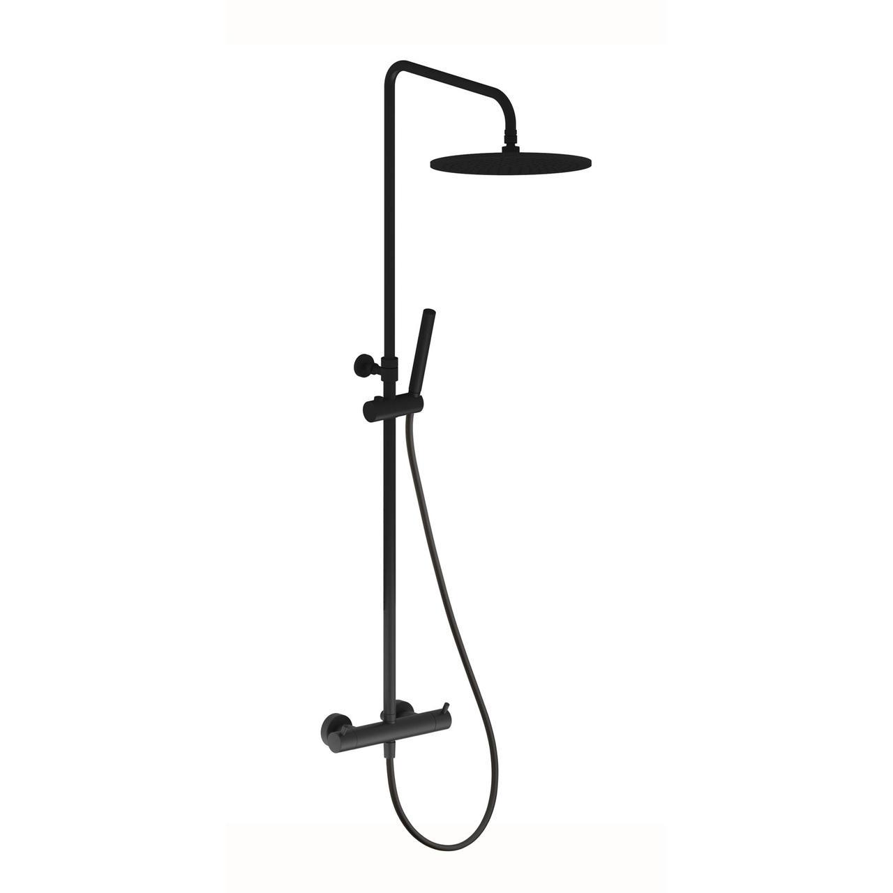 Термостатична душова система, чорний матовий  15020140B ART  Devit