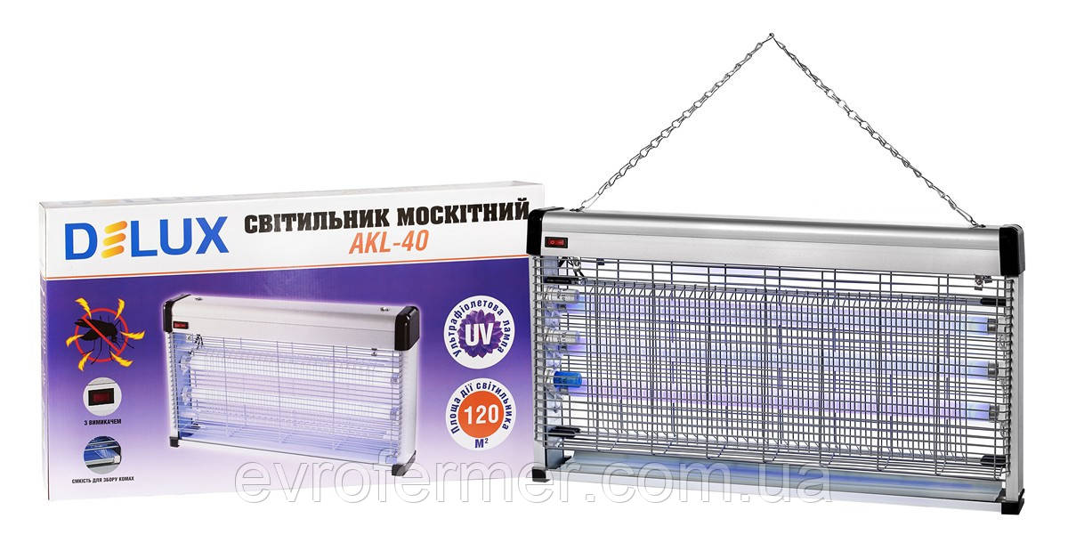 Уничтожитель насекомых, электромухоловка Delux AKL 40