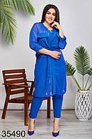 Женский стильный костюм брюки + блузка на запах р. 48-50, 52-54,56-58,60-62, фото 1