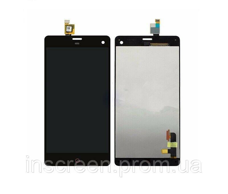 Дисплей ZTE Nubia Z7 Mini (NX507J) з сенсором (тачскрін) чорний, фото 2