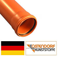 Труба ПВХ 110х3000х3,2 мм наружной канализации Ostendorf Германия
