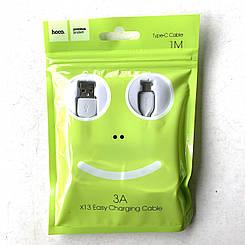 USB кабель Hoco X13  to Type-C (1m) Белый