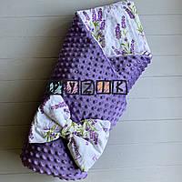 Конверт-ковдру минки на знімному синтепоні фіолетовий Лаванда, фото 1