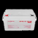 Аккумулятор гелевый LP-GL 12 - 65 AH SILVER, фото 2