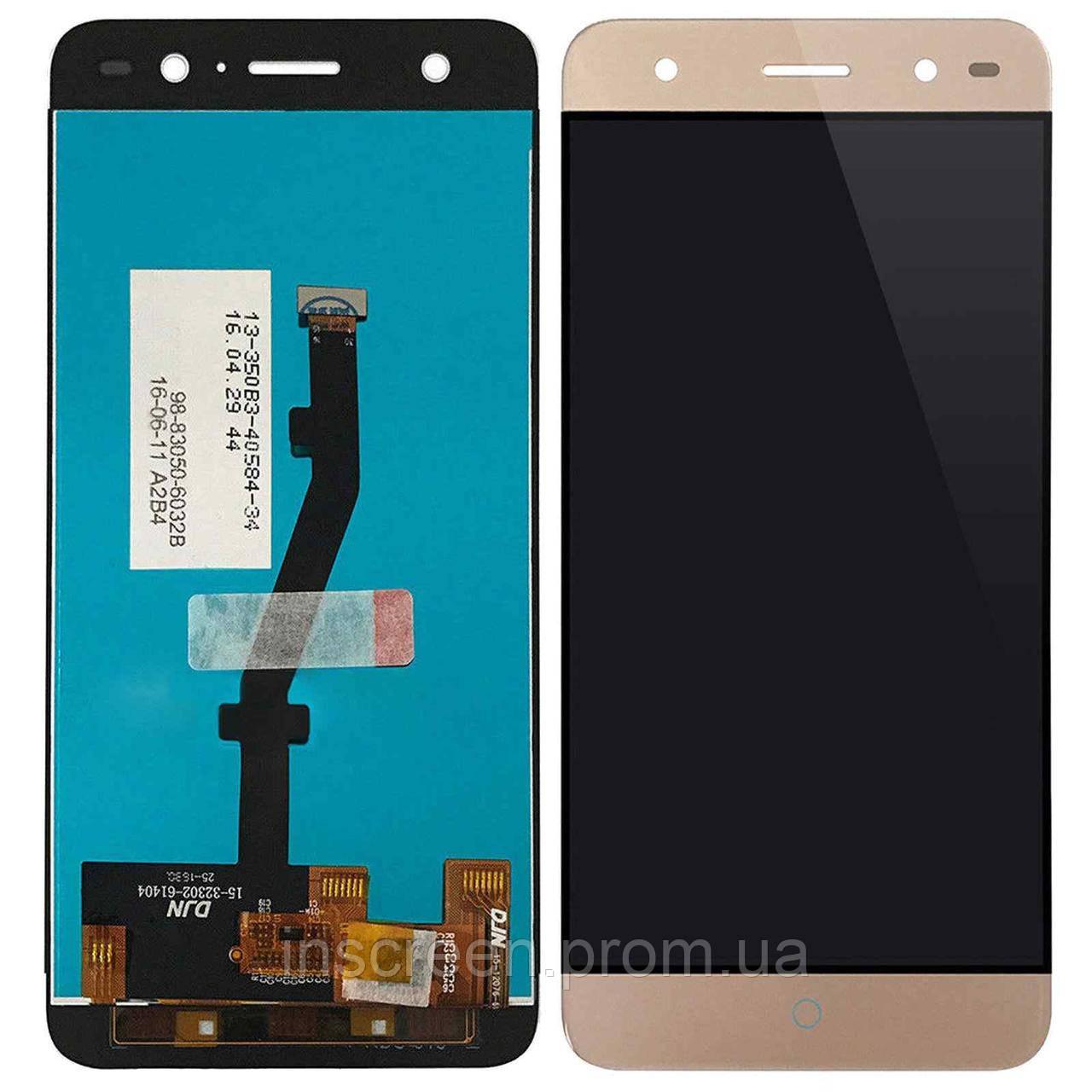 Экран (дисплей) ZTE Blade V7 Lite с тачскрином (сенсором) золотистый