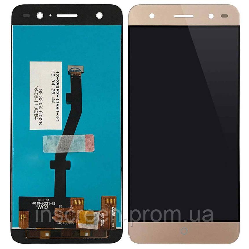Экран (дисплей) ZTE Blade V7 Lite с тачскрином (сенсором) золотистый, фото 2