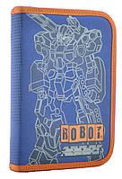 """Пенал """"1В"""" Robot 1від.,б/н,з 1відворотом №531871 20,5х14х3,5см(40)"""