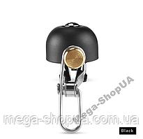 Велозвонок ретро громкий E10 велосипедный звонок, сигнал, гудок, клаксон для велосипеда, самоката Черный