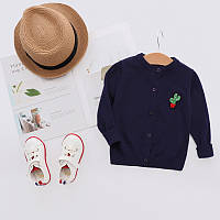 Весенний детский свитер для девочки, Топ качество для девочек синего цвета, арт. - 38098 , Скидка -12% : 100см,110см,80см,90см