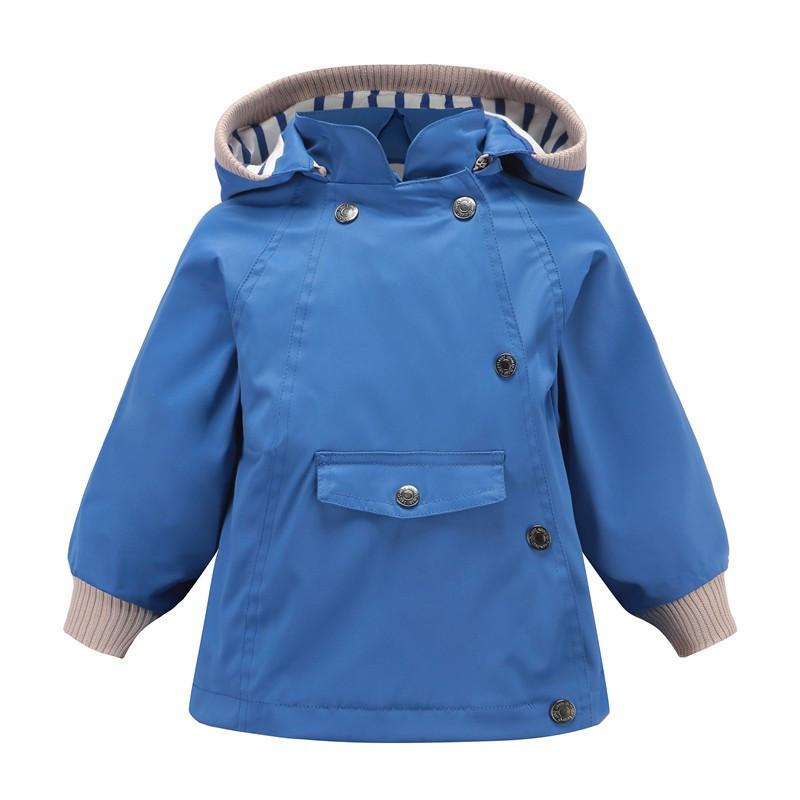Куртка на весну Meanbear, якість топ для дівчинки синього кольору -40% Off: 140см