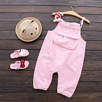 Розовый летний комбинезон для девочек розового цвета Final SALE -50%: 100см,110см,120см,140см,150см