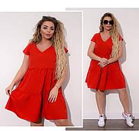 Свободное платье большого размера, Платье свободного кроя батал, Платье женское повседневное свободного кроя