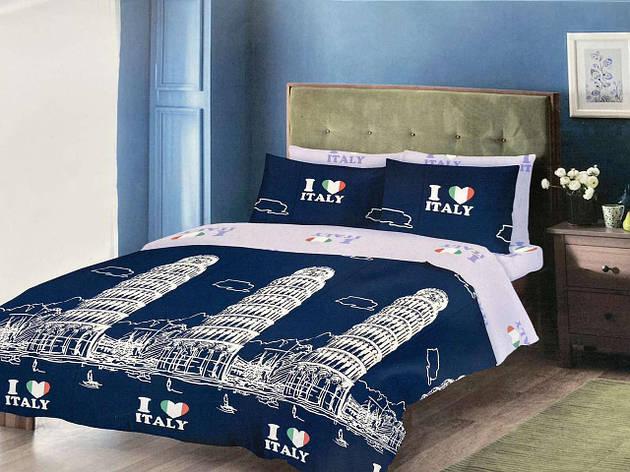 Двуспальный комплект постельного белья евро 200*220 хлопок  (14721) TM KRISPOL Украина, фото 2
