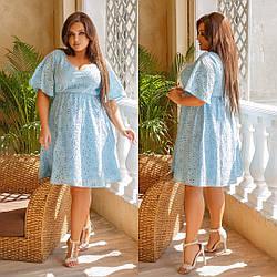 Летнее платье из прошвы большого размера, Женское летнее модное платье из прошвы большого размера,