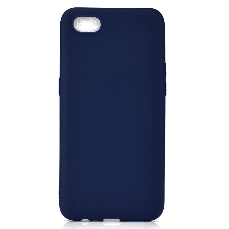 Чехол Soft Touch для Realme C2 силикон бампер темно-синий