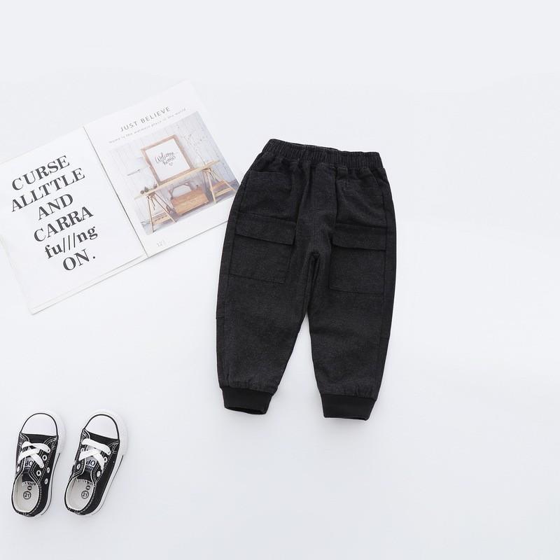 Трендові еластичні, зручні штани для хлопчиків чорного кольору -40% Off: 100см,120см,90см