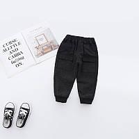 Трендовые эластичные, удобные штаны для мальчиков черного цвета Final SALE -50%: 120см,90см