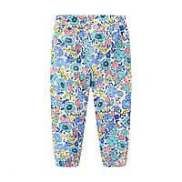 Штани из чистого хлопка с цветочным рисунком для девочек цветной цвета, арт. - 40883 , Total SALE -40% OFF : 2T,4T,5T