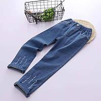 Эластичные джинсы Топ качества для девочек синего цвета, арт. - 40714 , Total SALE -40% OFF : 120см,130см,140см,150см, фото 1