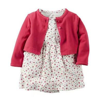 Летний комплект для девочки (платье + кофточка) для девочек  цвета SALE -50%: 24M,6M
