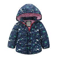Детская теплая куртка Meanbear для девочек синего цвета, арт. - 40691 , Скидка -12% : 100см,110см,120см,130см,140см,90см