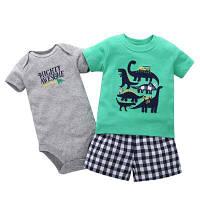 Детский комплект с динозаврами для мальчиков  цвета Акция! Последний размер:  6M
